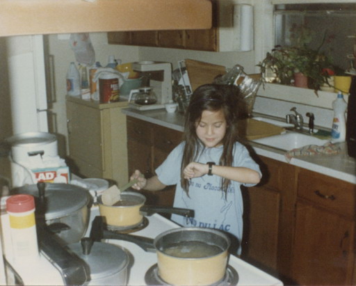 I began cooking at a really young age...