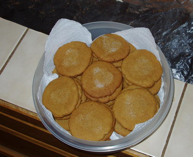 Gingerbread cookies from AllRecipes.com