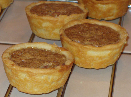 Butter Tarts with Almonds