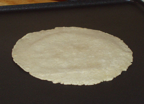 Corn tortillas made with masa