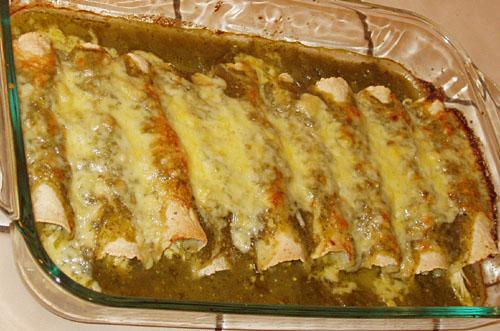 Enchiladas Verde Con Pollo