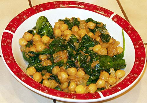 Spinach with Garbanzo Beans