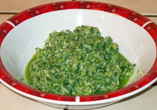 Fresh Green Chile Chutney