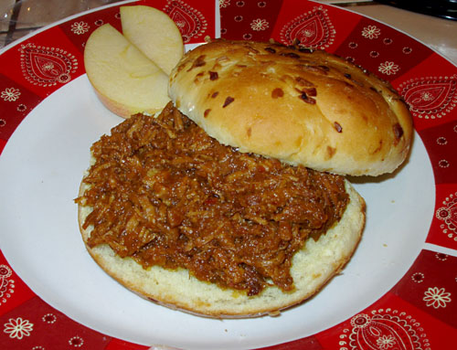 Barbecue Sauce on Pulled Pork