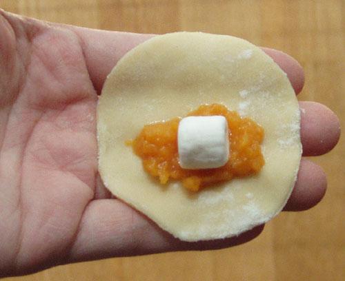 """2-inch """"Sweet Potato Pie"""" Pierogi"""
