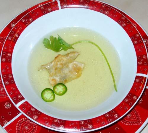 Wonton Soup en Consommé