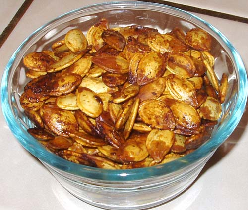 Salty Garlic Pumpkin Seeds